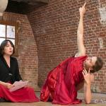 Emeline Pipelier à la poésie et Tinuviele Parmentier à la danse