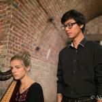 Reutty à la voix et Nelle Couché à la harpe